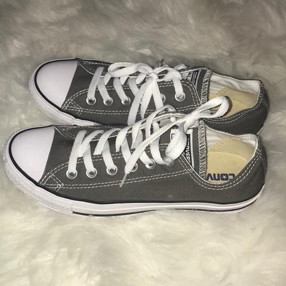 25f80420d8c Converse Shoes - Converse gray shoes 7.5 Women s 5.5 Men s worn 1X